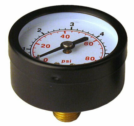 Манометр радиальный  0-6 бар 50мм 1/4''