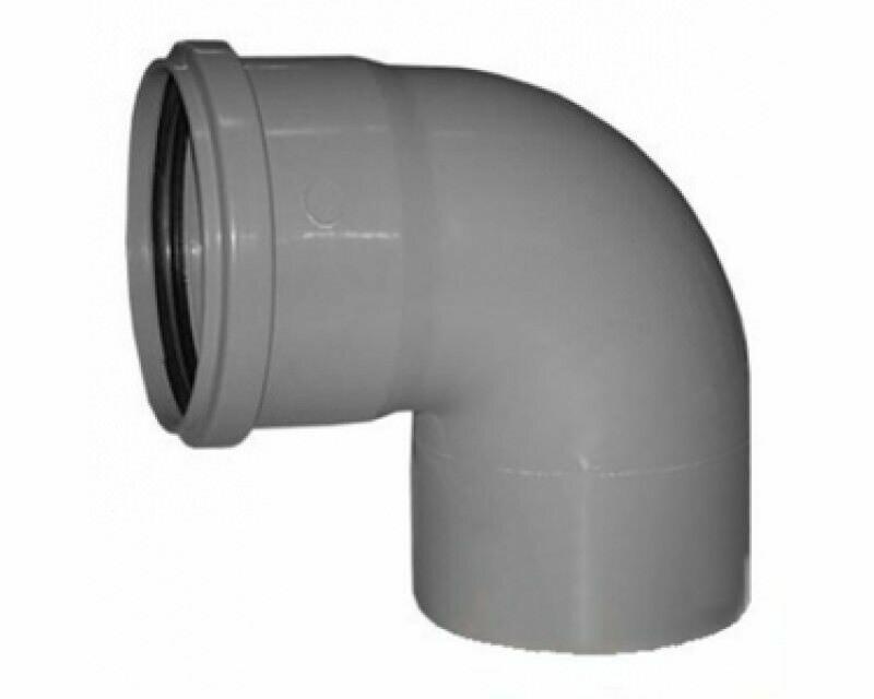 Отвод D=110мм Угол-90° (Серый)