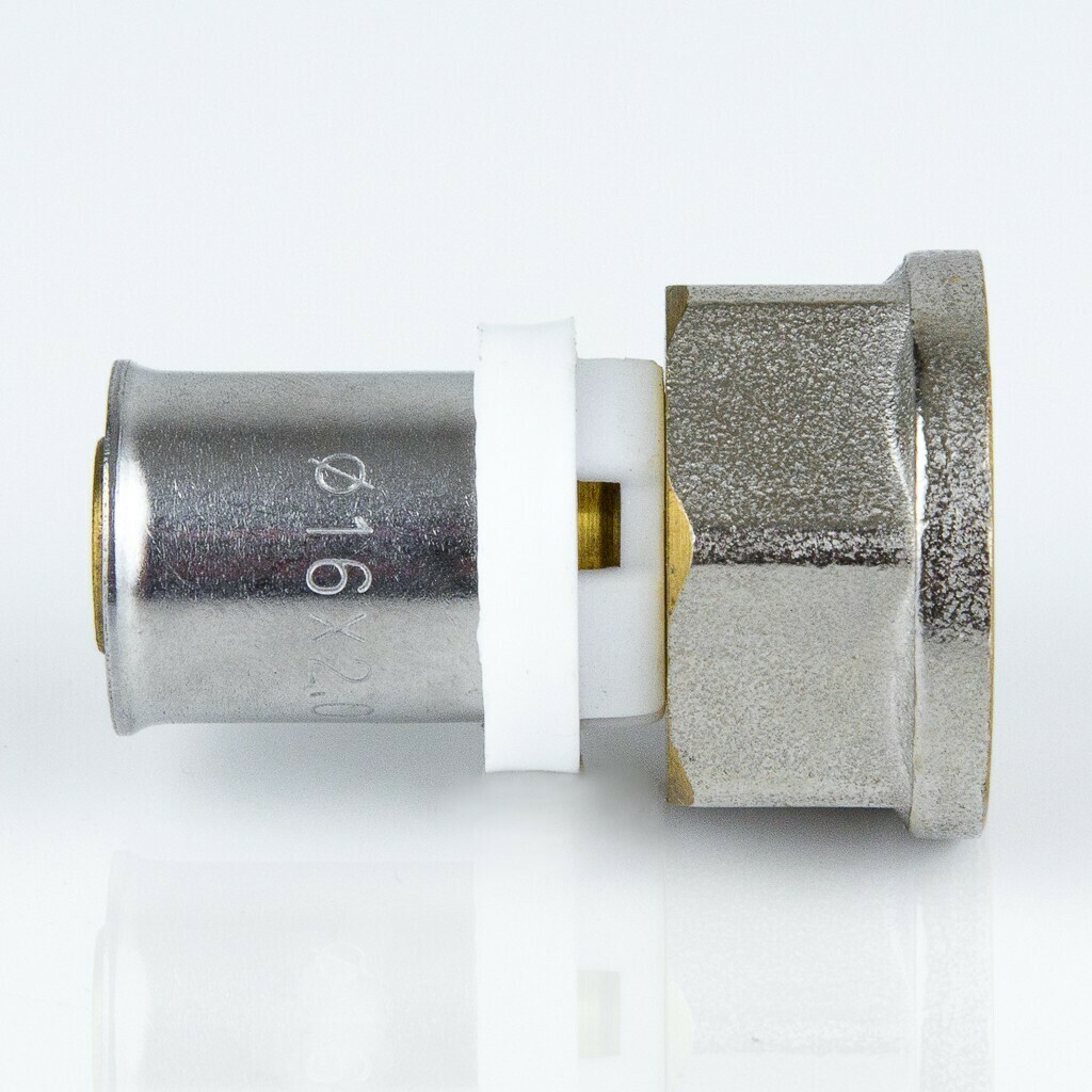 "Пресс муфта D=20мм*3/4F"", никель, евро"