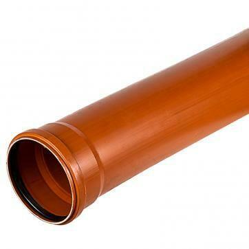 Труба канализационная D=110мм*3,4мм (L=1м) (Рыжая)