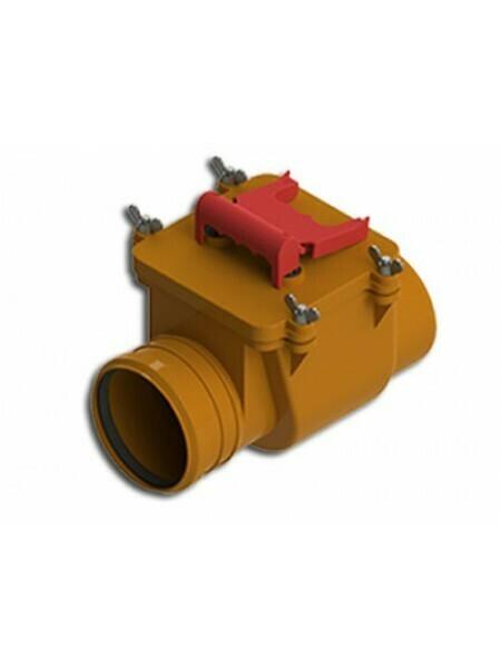 Клапан обратный D=110мм (Рыжий)