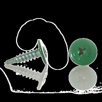 Саморез с прессшайбой острый 4,2мм*13мм (RAL-6026 Зеленый опал)