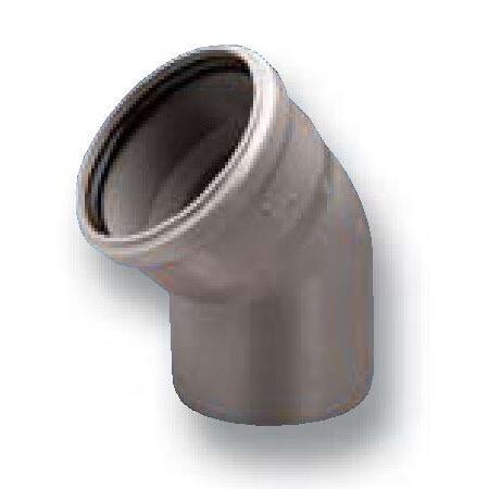 Отвод D=110мм Угол-45° (Серый)