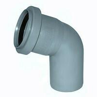 Отвод  D=50мм Угол-45° (Серый)