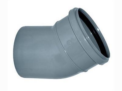 Отвод D=110мм Угол-15° (Серый)