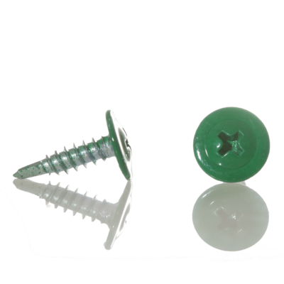 Саморез с прессшайбой острый 4,2мм*16мм (RAL-6026 Зеленый опал)