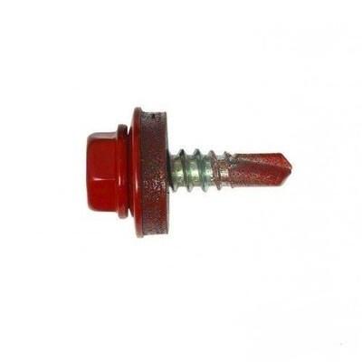 Саморез кровельный 5,5мм*25мм (RAL-3003 Красный рубин)