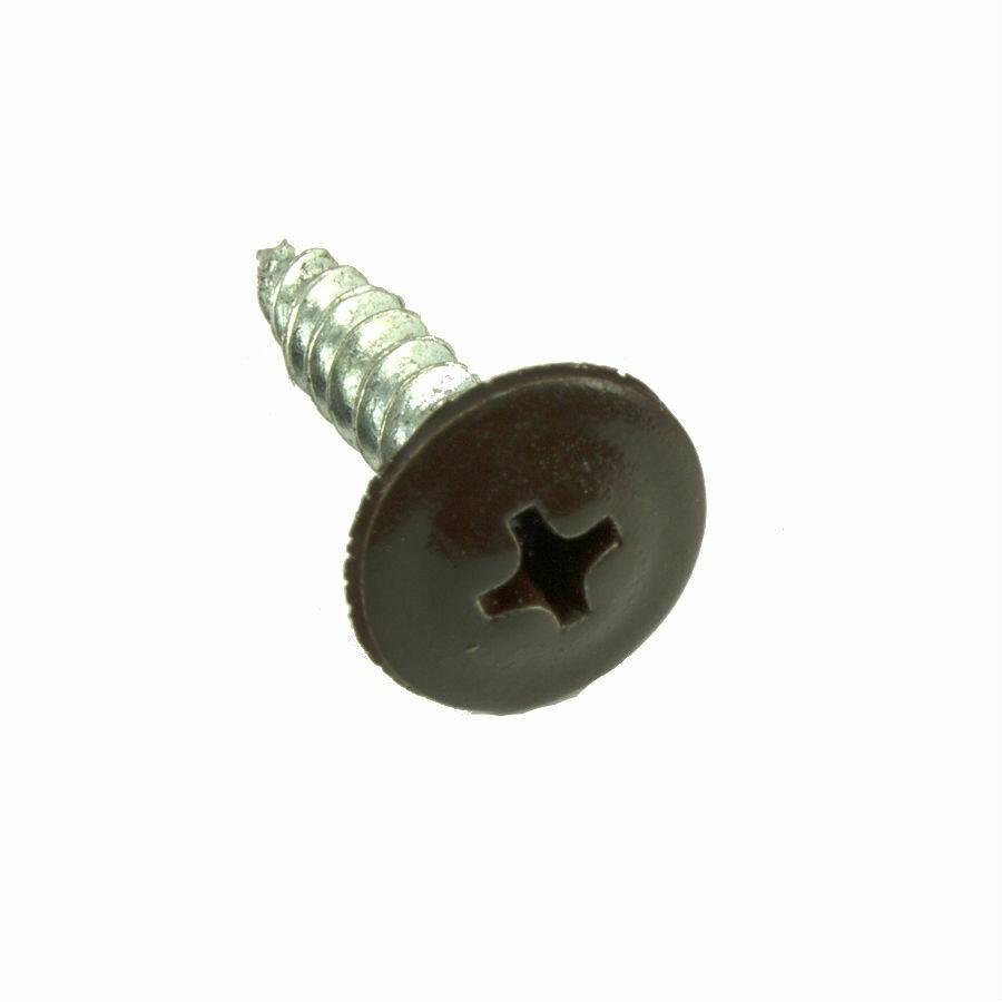 Саморез с прессшайбой острый 4,2мм*13мм (RAL-8017 Шоколад)