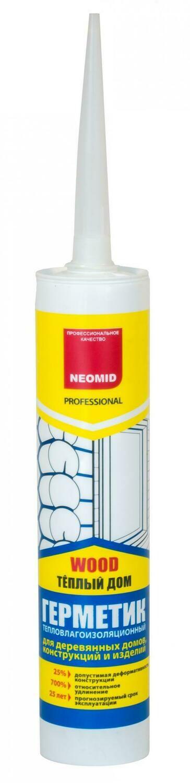 """Герметик шовный акриловый высокоэласт. сосна (600 мл) файл-пакет """"Neomid Prof."""""""