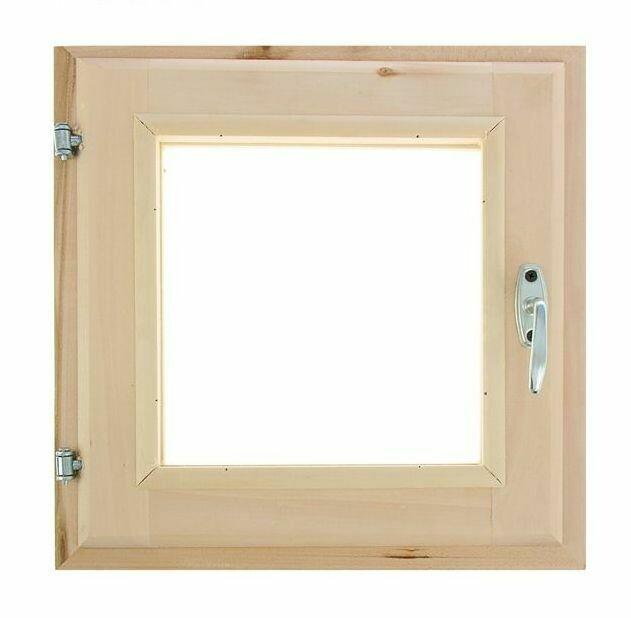Окно 40см*40см, двойное стекло, из липы