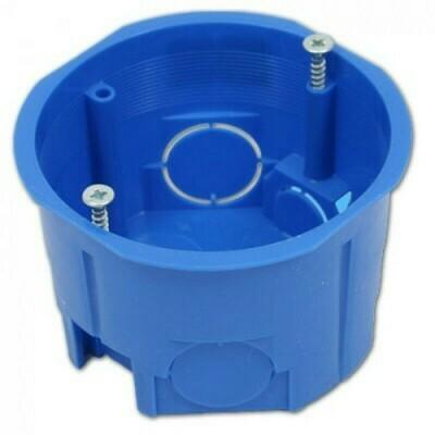 Коробка установочная, 68мм*45мм, для твердых стен, синяя