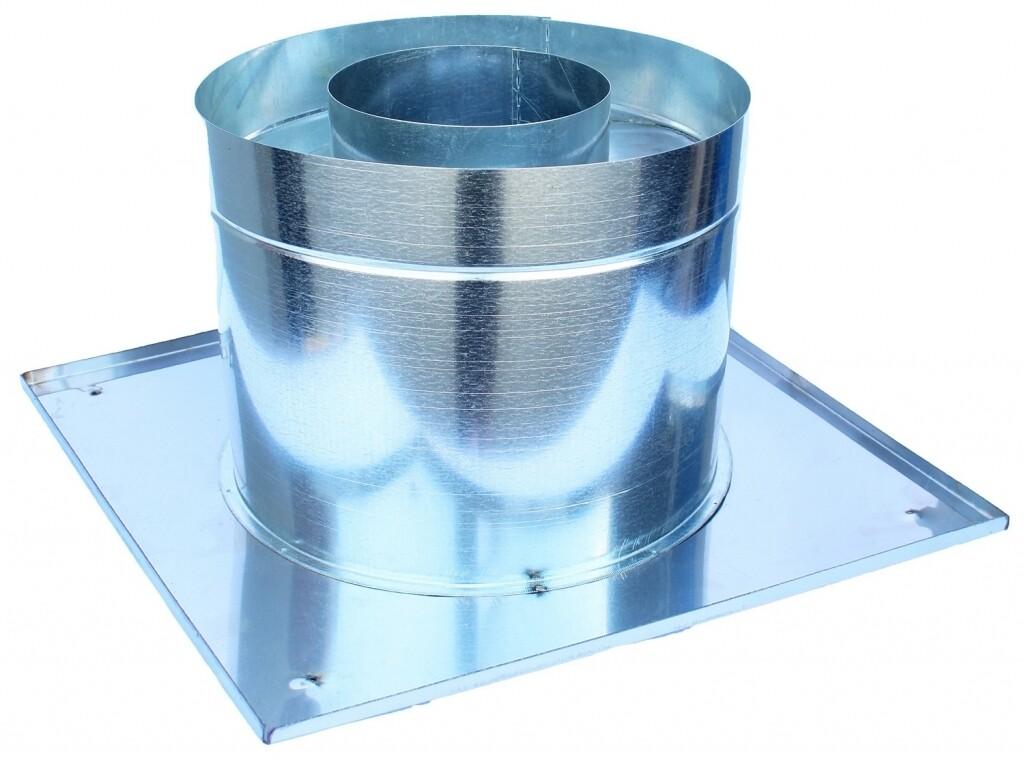 Декоративный ППУ, D115 мм, теплый, нерж/оцинк, круглый