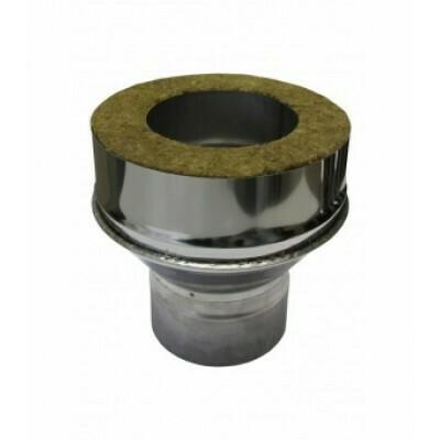 Адаптер котла 200мм*120мм, 0,50мм + 0,50мм, нержавеющая сталь