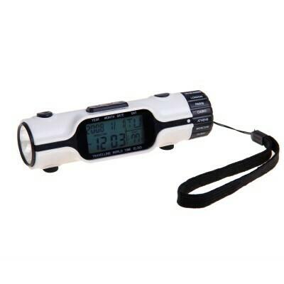 Часы-будильник с фонариком, дата, температура