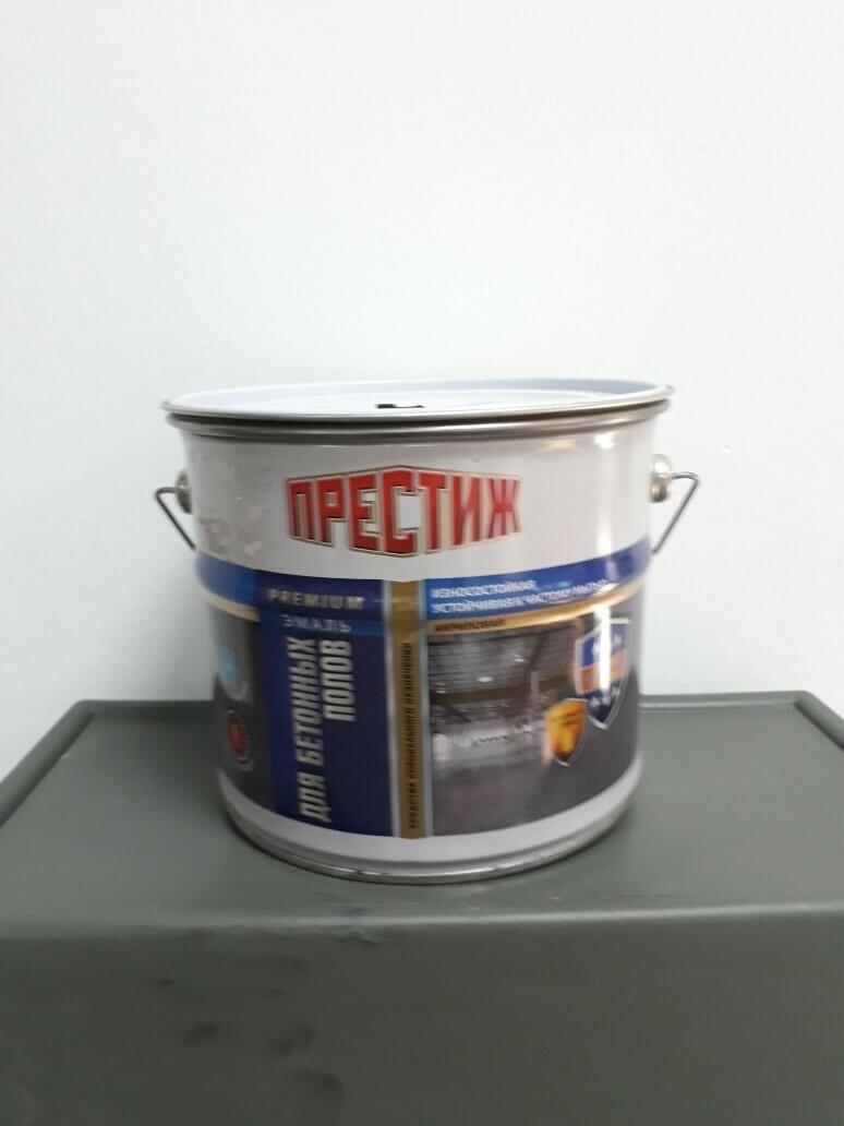 Эмаль акриловая для бетонных полов КОРИЧНЕВАЯ (4кг)