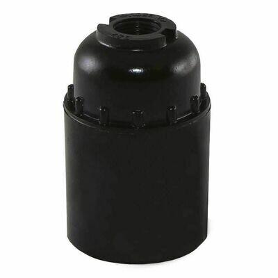 Патрон Е27 черный, подвесной, карбон