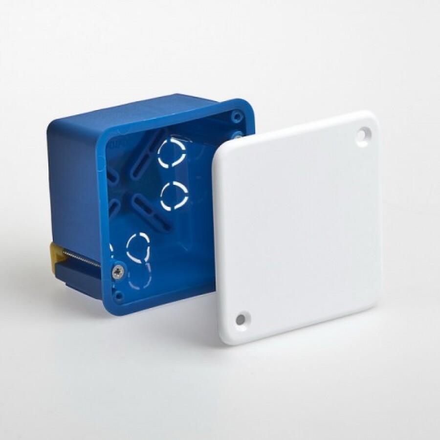 Коробка распределительная, гипсокартон, квадрат, с/п, 100мм*100мм*45мм