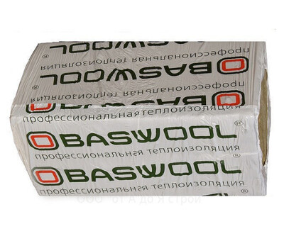 Baswool Ecorock 30 1200мм*600мм*100мм  (6 плит-4,32м²/0,432м³/ упаковка)