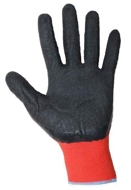 Перчатки красные с черной обливной ладонью