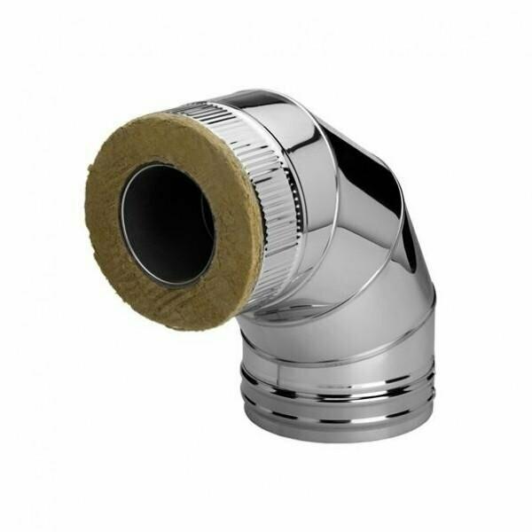 Колено 4-х секцонное  Угол-90° D=130мм, 1,00мм, нержавеющая сталь