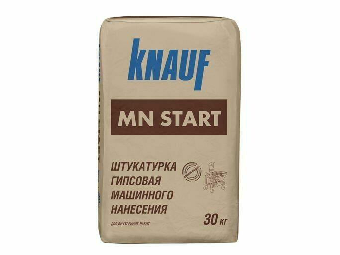 Штукатурка гипсовая машинного нанесения КНАУФ МН Старт, белая (30кг)