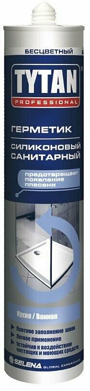 """Герметик силиконовый санит. бесцветный (310мл) """"TYTAN Professional"""""""