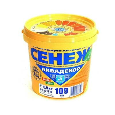 Х2-109 ОРЕХ (2,5кг) Сенеж аквадекор
