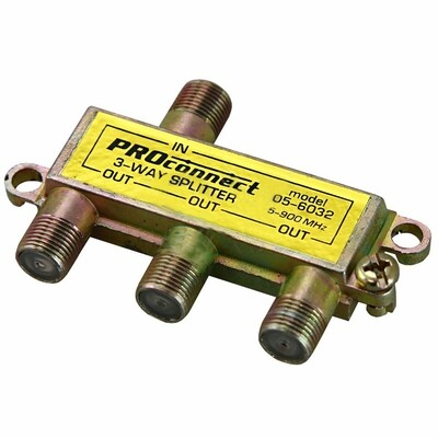 Делитель ТВ краб*3 под F разъем, 5-900МГц