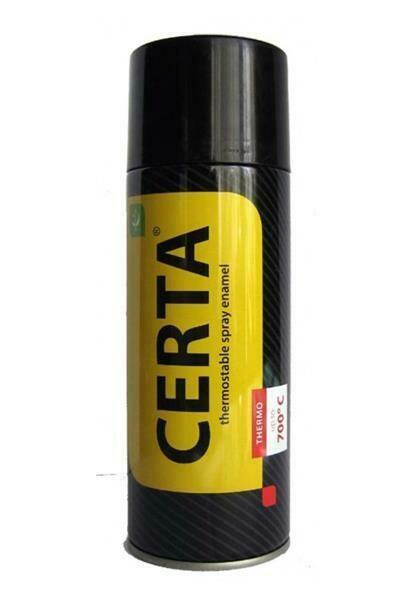 """Эмаль термостойкая СЕРЕБРО до +700°C, (520мл аэрозоль) """"CERTA"""""""