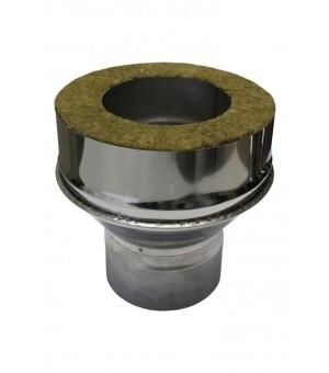 Адаптер котла 200мм*115мм, 0,50мм + 0,50мм, нержавеющая сталь