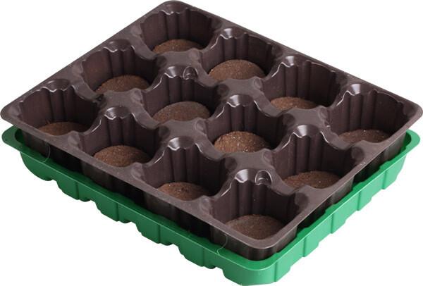 Набор для выращивания рассады с торф. таблетками 15 штук