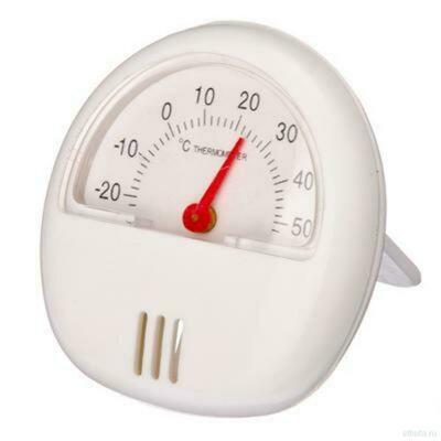 Термометр с магнитом, пластик 5,7*5,7см на блистере