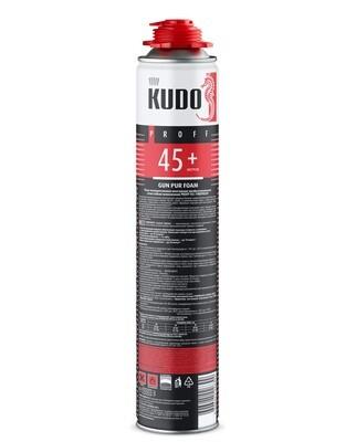 Пена монтажная KUDO Proff45+ FIREPROOF полиур. проф. огнестойк. всесезон. 1000мл
