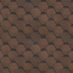 Черепица Финская коричневый 1м2 (в упак. 3м2)