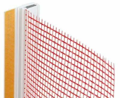 Профиль примыкающий самоклеющийся с армирующей сеткой 6 мм, 2,4м