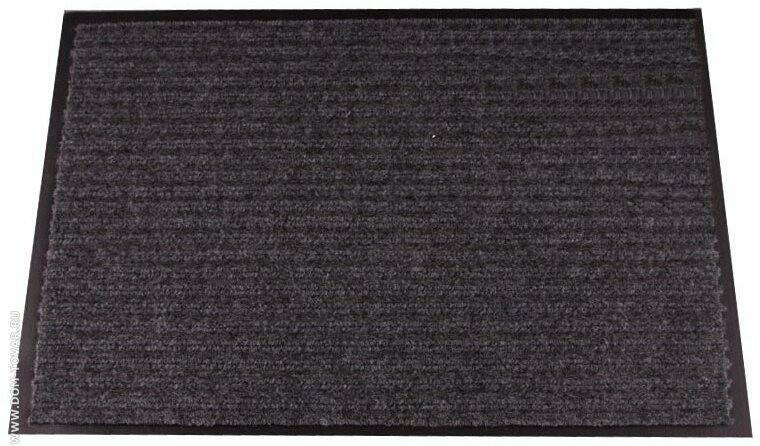 Коврик влаговпитывающий, ребристый (60*90см) Серый
