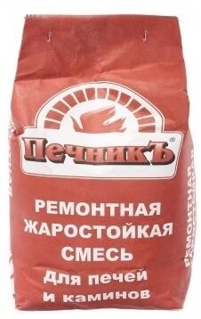 """Ремонтная жаростойкая смесь для печей (10кг) """"Печникъ"""""""