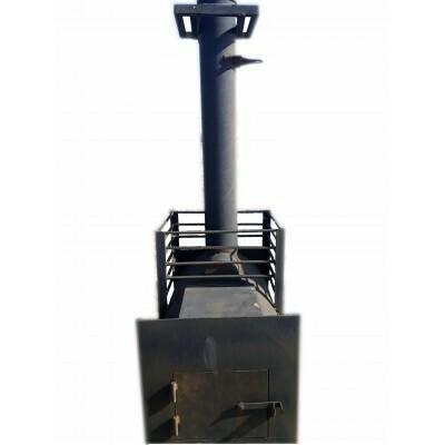 """Печь """"Паровозик"""" 530мм, без БАКА (0,8м) с выносом (20м³)"""