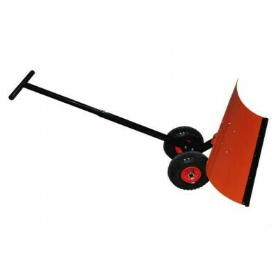 Лопата-скрепер поворотная на колесах для уборки снега