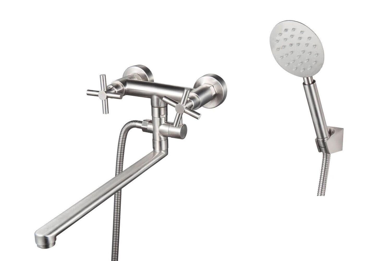 Смеситель д/ ванн двухвен. SUS124-140P