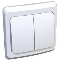 "Выключатель, 2-х кл., белый ""Schneider Этюд ВC10-002b"""