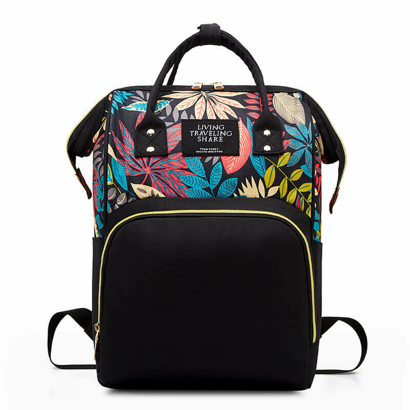Раница-Чанта за  бебешки принадлежности Tropical Black
