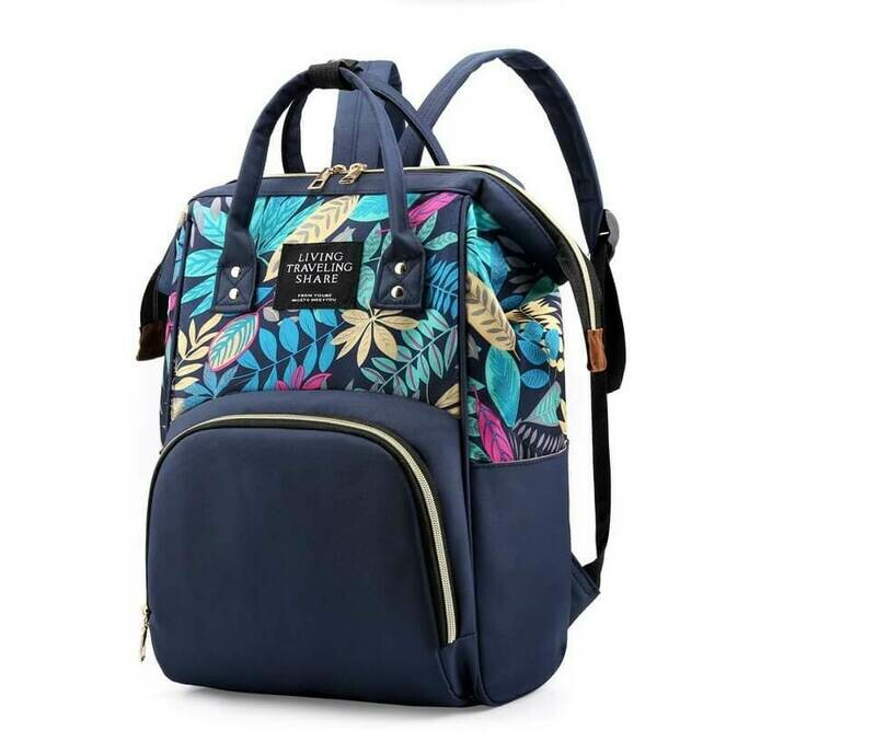 Раница-Чанта за  бебешки принадлежности Tropical Blue