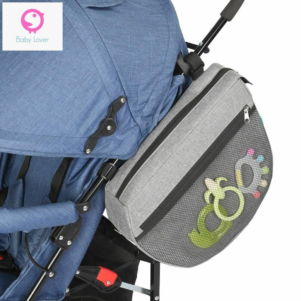 Универсален органайзер/чанта за бебешка количка с място за мокри кърпички Horizontal