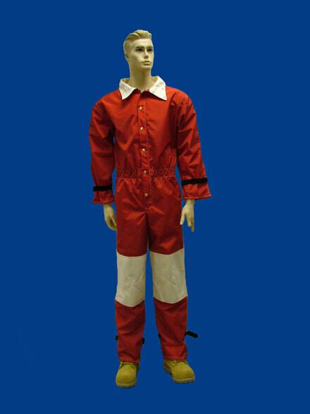 Red Nylon Blast Suit