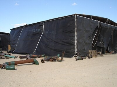 Black Shade Containment Screens