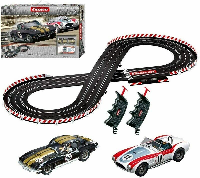 1:32 Carrera Evolution Fast Classics II Slot Car Set