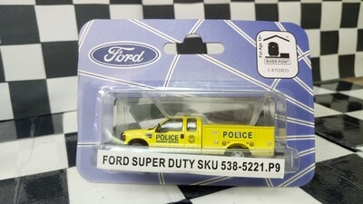 1:87 RPS Ford F-350 Super Duty 4X4 SRW Service Truck (Police Highway Service - Yellow)