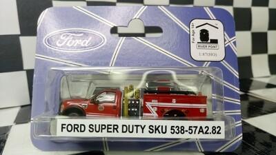 1:87 RPS Ford F-550 Regular Cab DRW Mini-Pumper Fire Truck (Red White-Z-Strip)