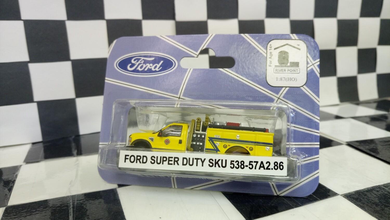 1:87 RPS Ford F-550 Regular Cab DRW Mini-Pumper Fire Truck (Yellow Blue-Z-Strip)